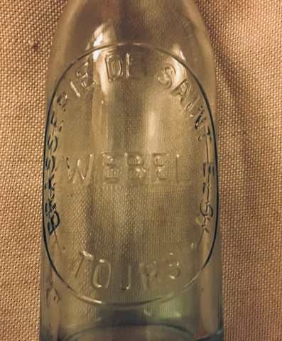 Vintage French Glass Bottle
