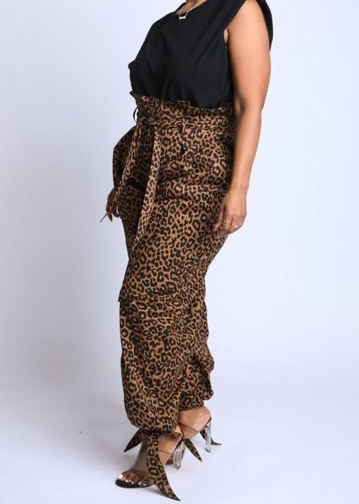 Savannah Cargo Pants- Leopard