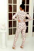 SPACED OUT 2PC SET - NUDE