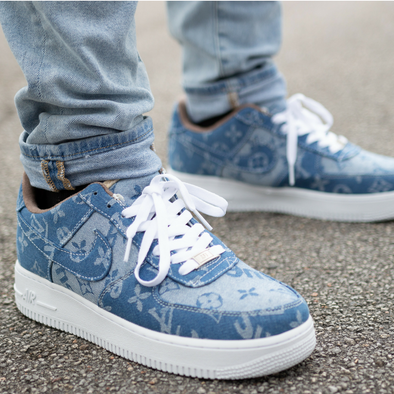 674112a5ea0 Supreme X Louis Vuitton Custom Jean Air Force 1 – Custom drip