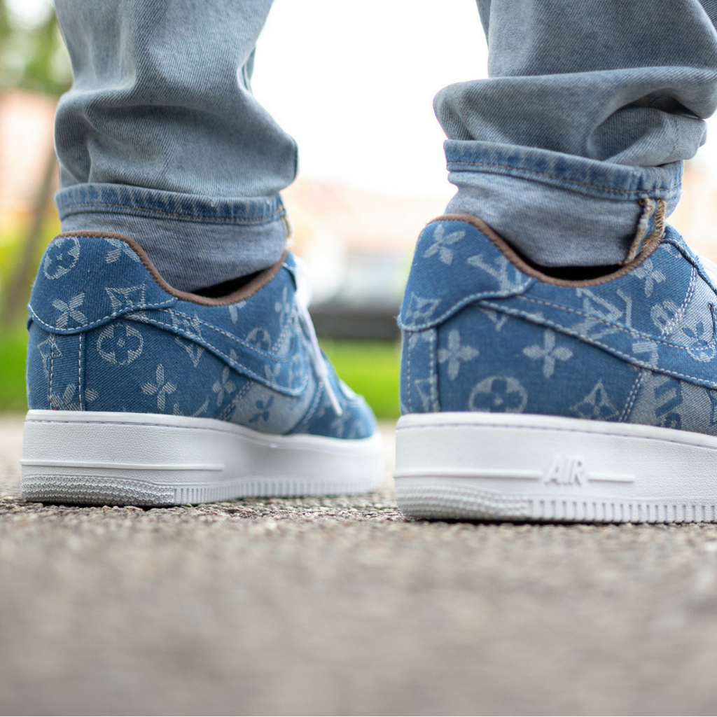 Supreme X Louis Vuitton Custom Jean Air Force 1