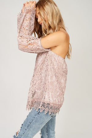 Blush Lace Top