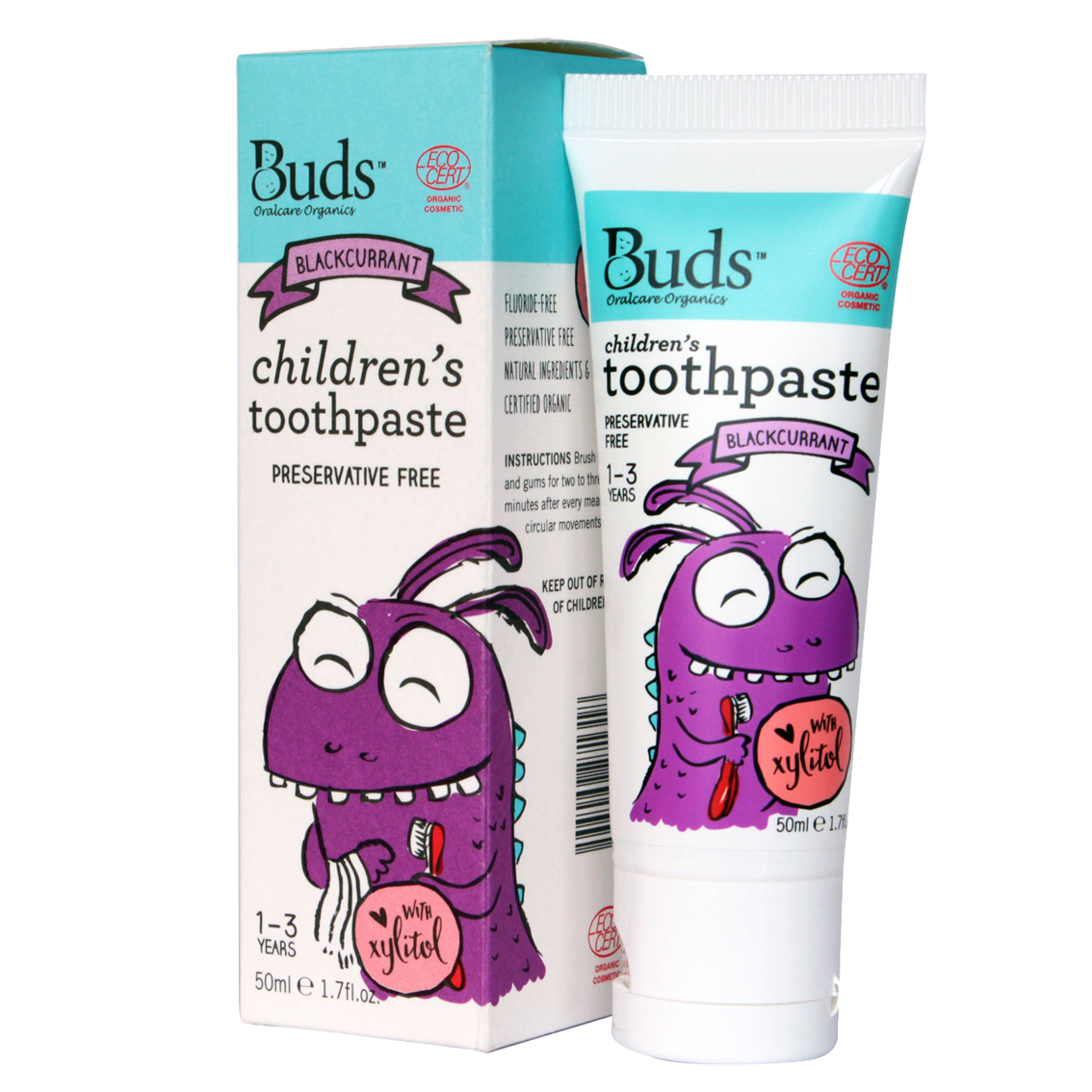Buds Blackcurrant Toothpaste With Xylitol