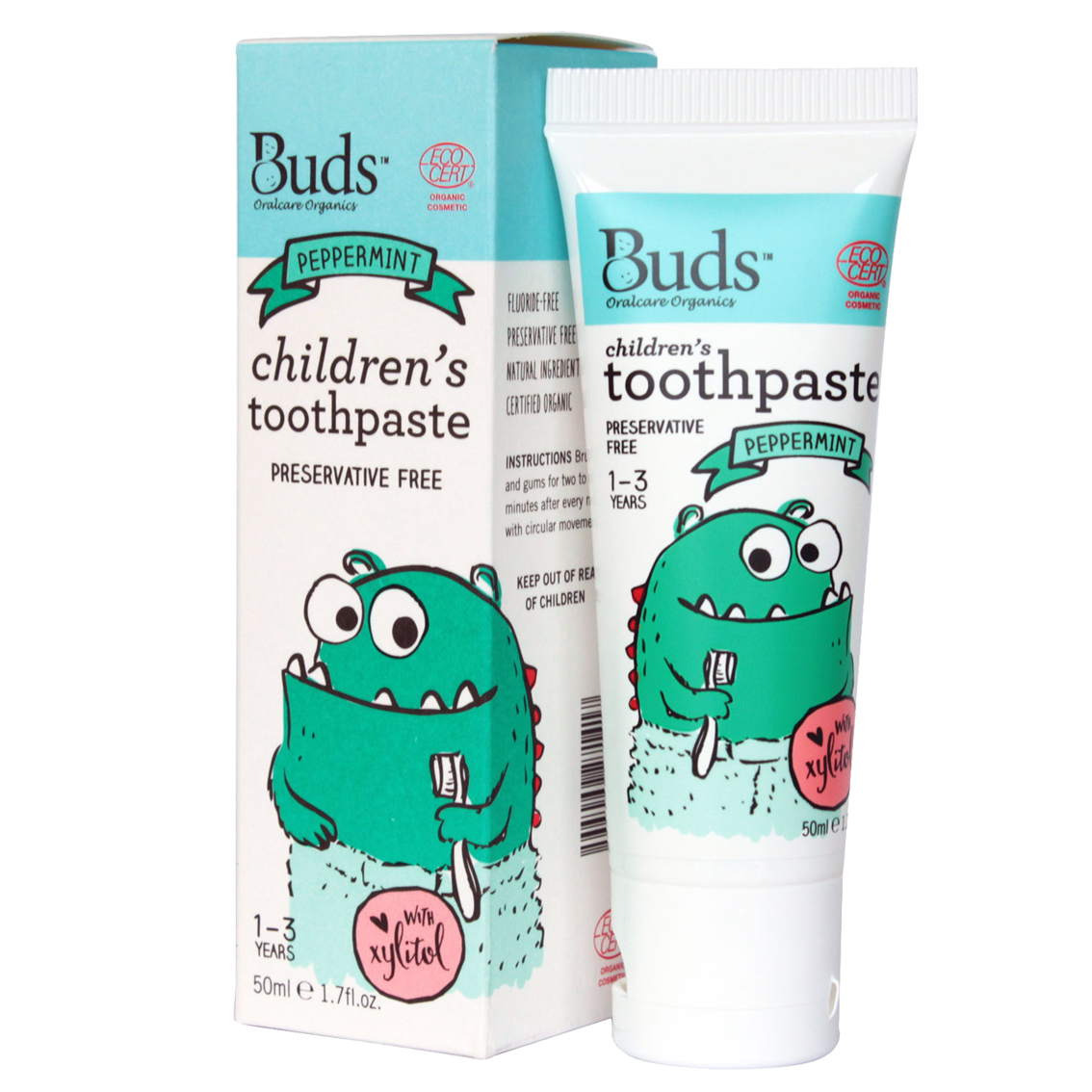 Buds Peppermint Toothpaste With Xylitol