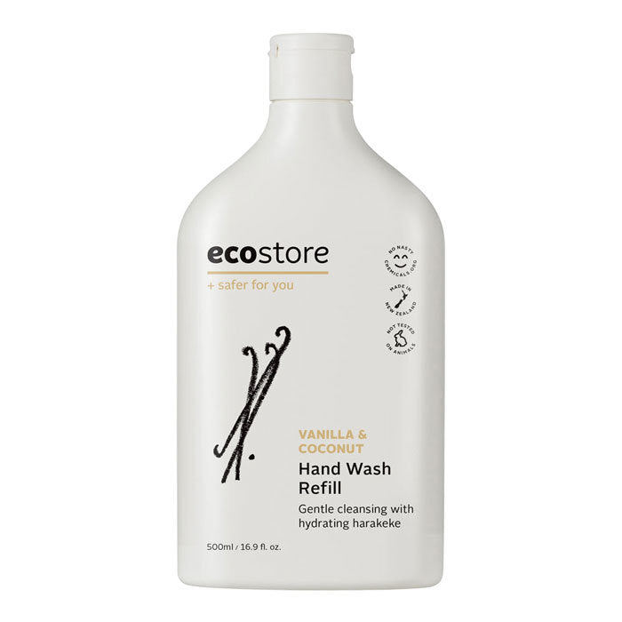 Ecostore Hand Wash Coconut & Vanilla Refill Pack 500ml
