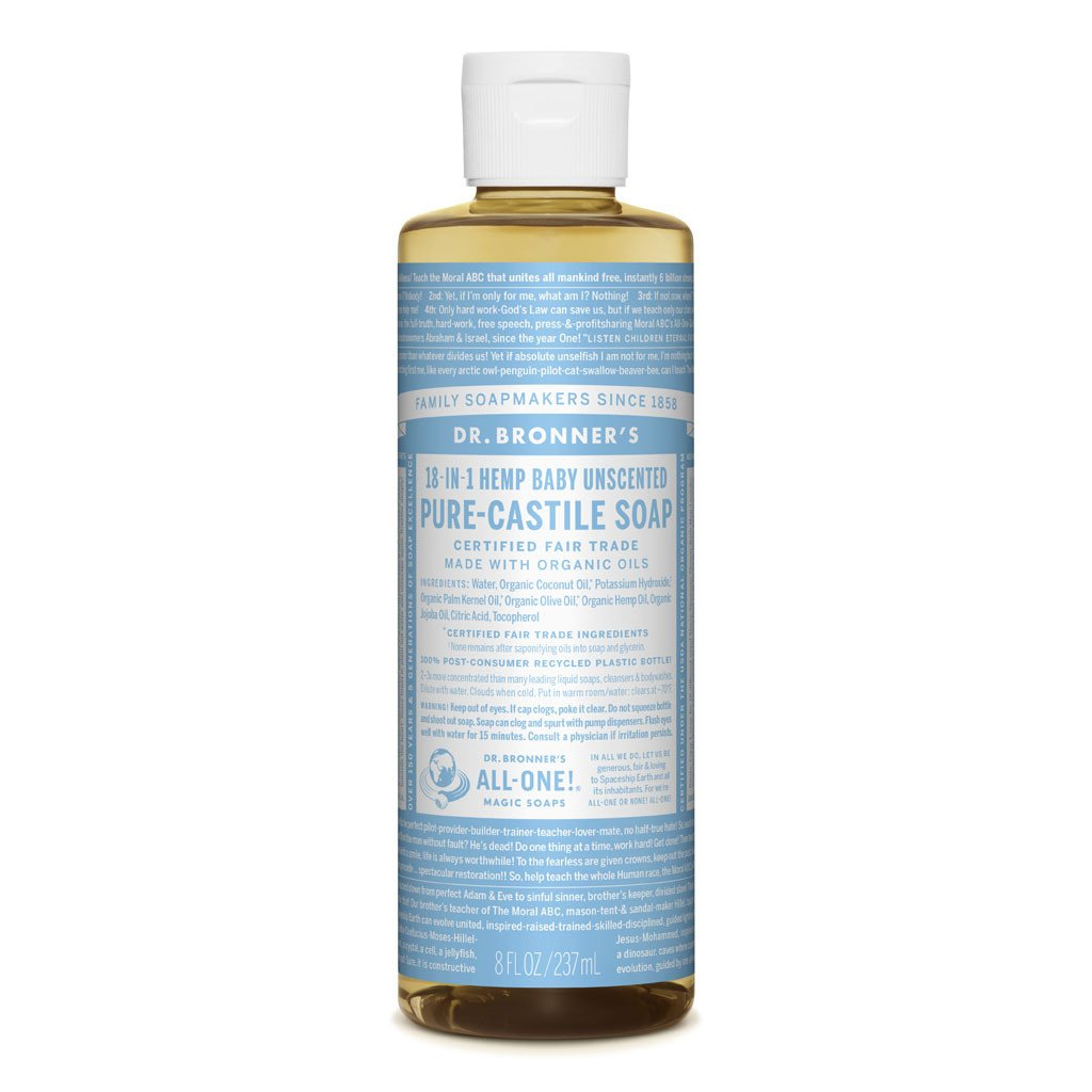 Dr Bronner's Pure Castille Liquid Soap - Baby Unscented Mild