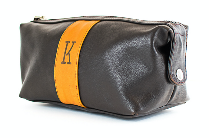 Trousse de voyage Marron double zip - komorebiworld.com