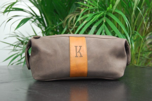Trousse de voyage Gris Caillou double zip - komorebiworld.com