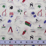 Lot A429 * HEARTS & GOODLUCK CHARMS by Daiwabo - BARGAIN Fabric by the ½ metre