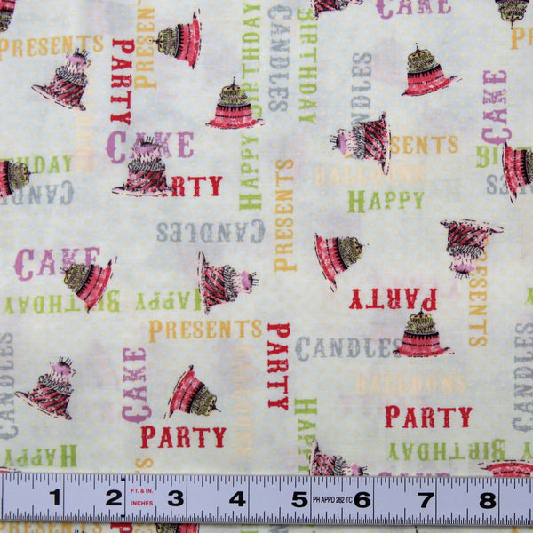 E162 - HULLABALOO - #Y1392-32- by Clothworks - Patchwork Fabric by the 1/2 metre
