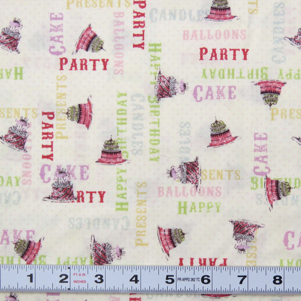 E163 - HULLABALOO - #Y1392-2- by Clothworks - Patchwork Fabric by the 1/2 metre