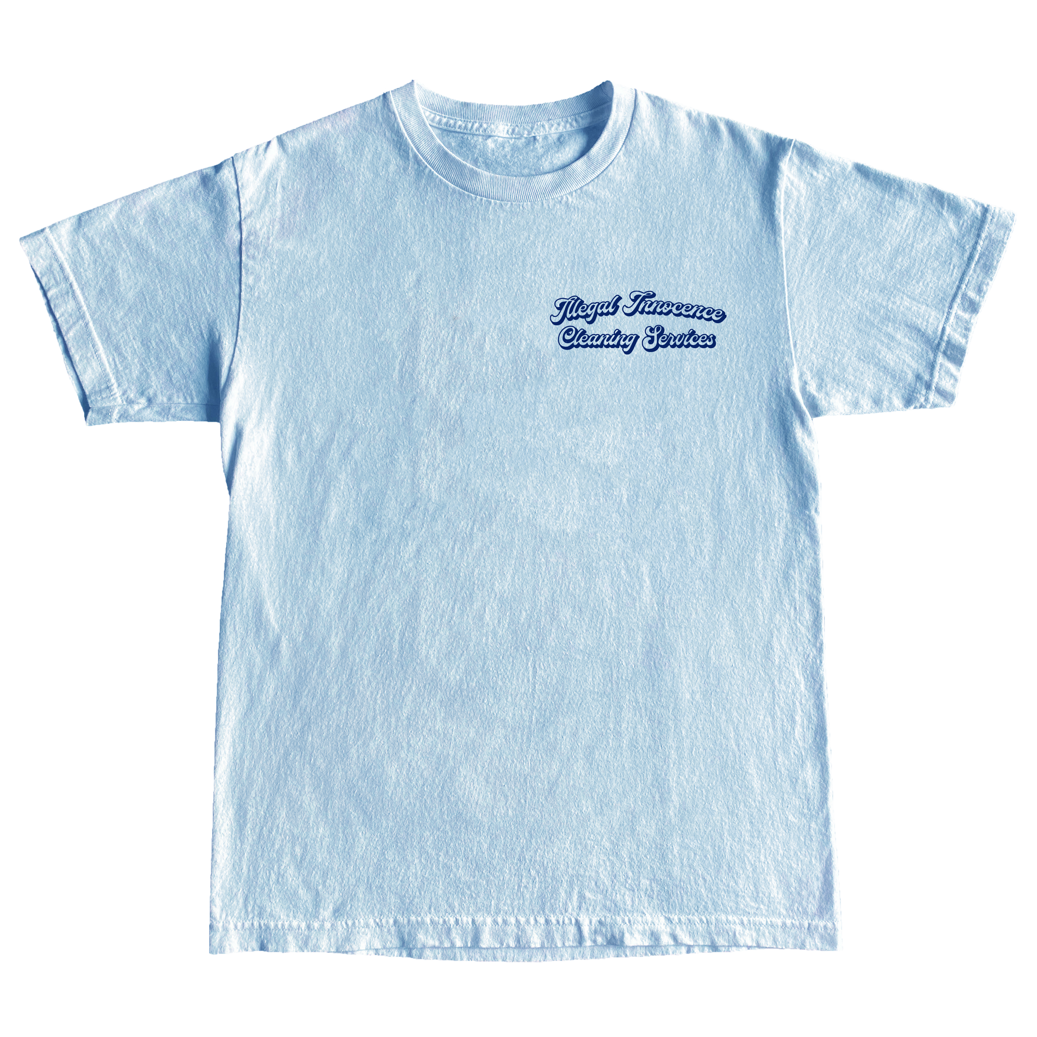 Cleaning Services Tee (Light Blue)