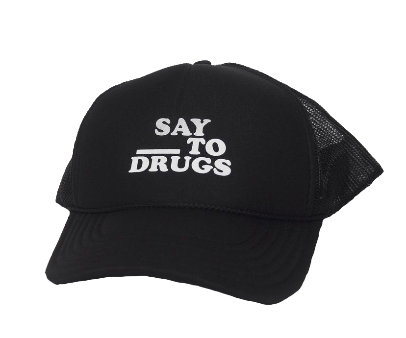 Fill in the Blank mesh hat (Black)