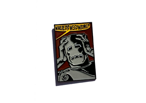 Where? Enamel Pin