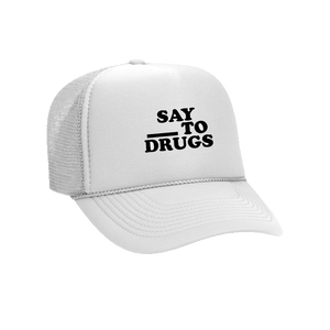 Fill in the Blank mesh hat (White)