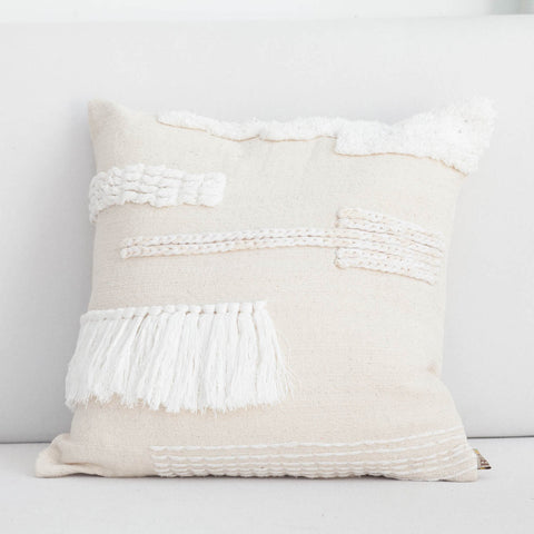 Handmade Mixed Tassel Cushion Cover