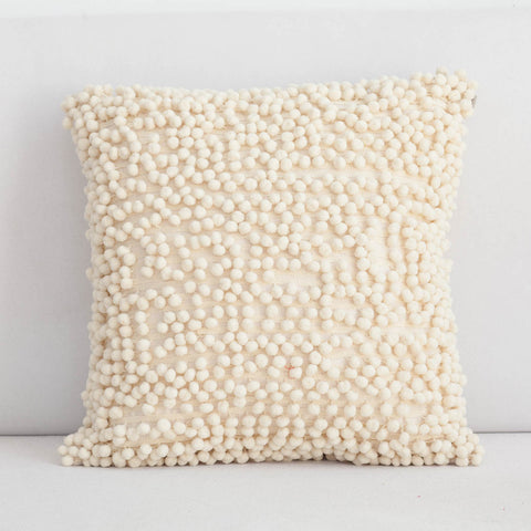 Handmade Pompom Cotton Cushion