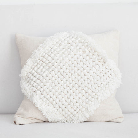 Handmade Multi-Dimensional Diamond Knots Cushion Cover