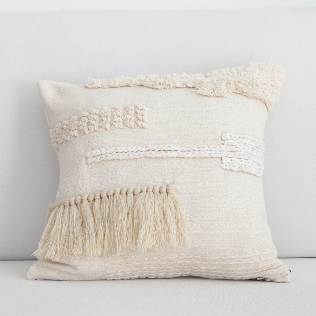 Mixed Tassel Cushion Cover