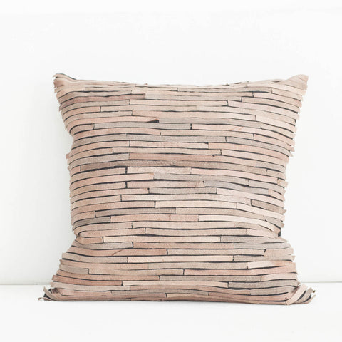 Handmade Bamboo Leather Cushion