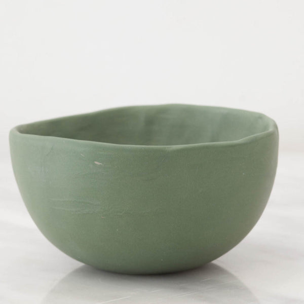 Artisan Green Stoneware Soup Bowl