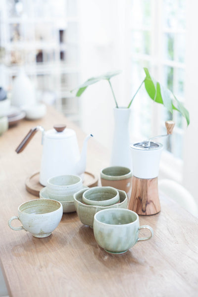 Stoneware Sunday Tea Cups
