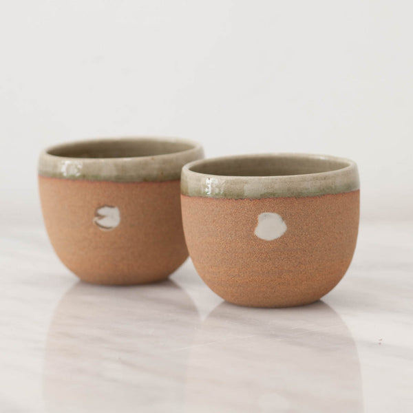 Dotted Stoneware Tumblers
