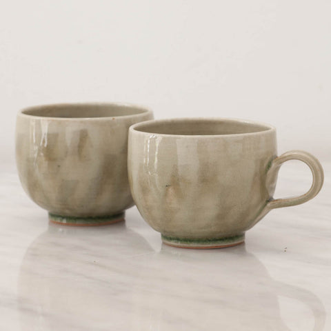 Handmade Stoneware Sunday Tea Cups