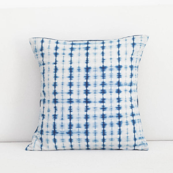 Soundwave Indigo Shibori Pillow