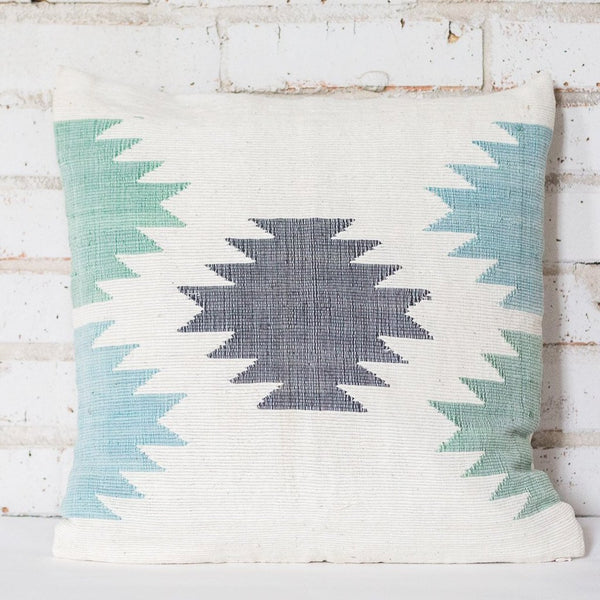 Blue Tree Cotton Cushion