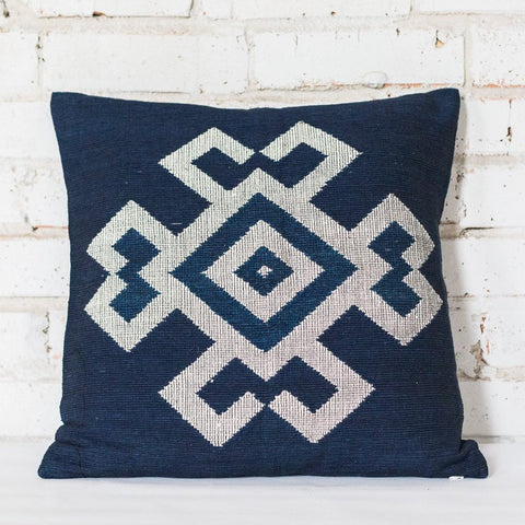 Blue Crab Design Cushion