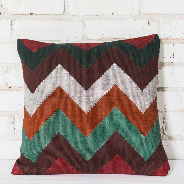 Zigzag Gold Cushion