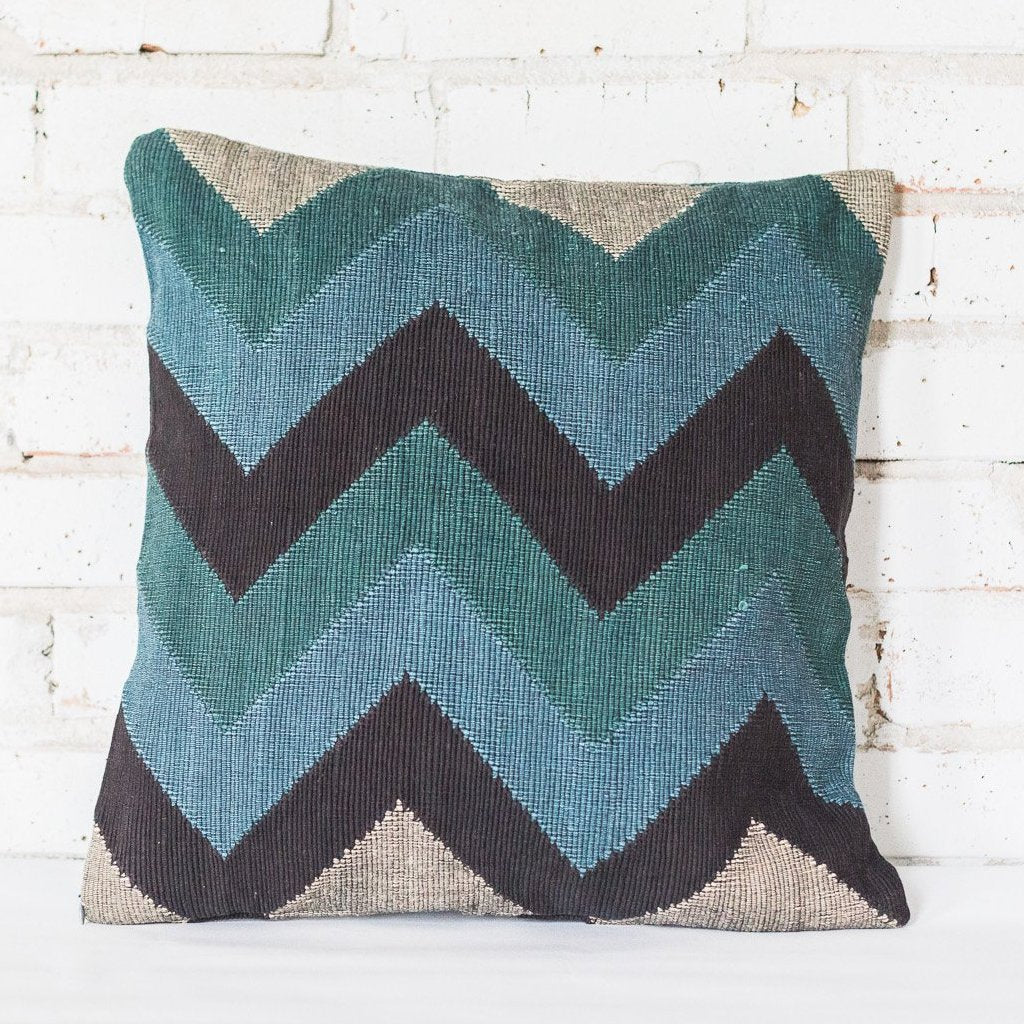 Zigzag Brown Cushion