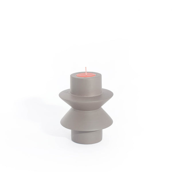 TAATO Anthracite Mango Wood Candlestick
