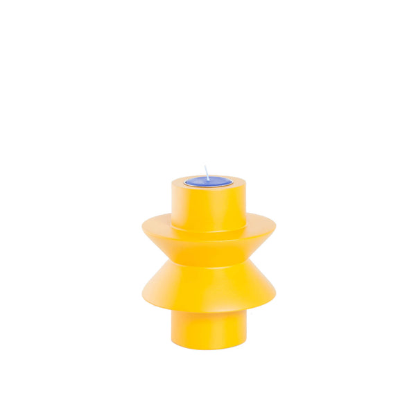 TAATO Yellow Mango Wood Candle Stick