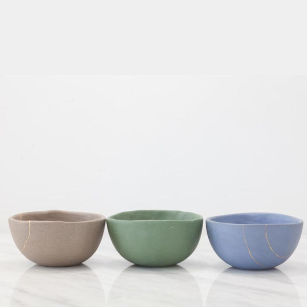 Stoneware Soup Bowl with Golden Line