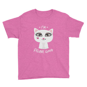 I'm Feline Good Kitty Jewel Short Sleeve T-Shirt for Tweens