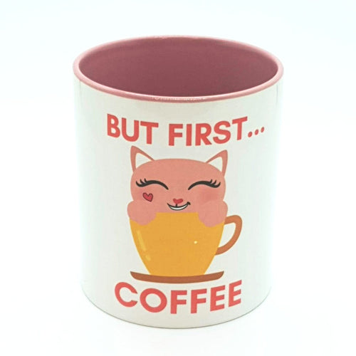 But First Coffee Kitty Mug