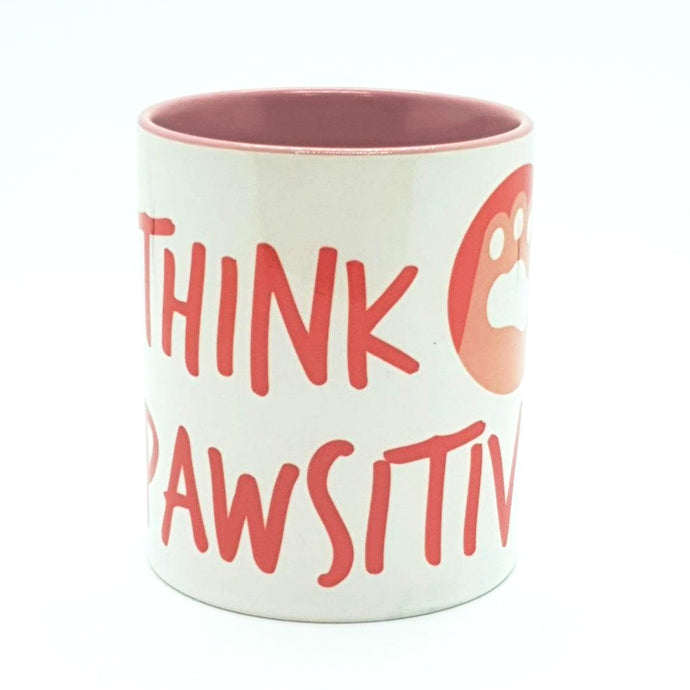 Think Pawwwsitive Kitty Mug