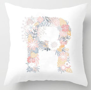 Cute Alphabet Pillow Case Letters