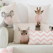 Cute Pink Animal Cushion Covers
