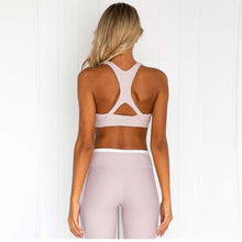 Yoga Sports Bra and Leggings Set Womens Athletic Sportswear