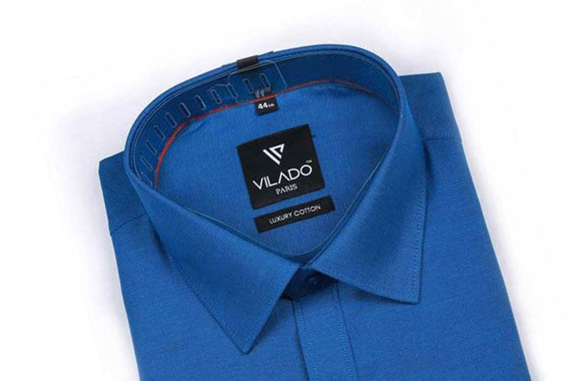 Men's Formal Premium Cotton Shirt Fashion Embroidered Logo By Vilado Paris