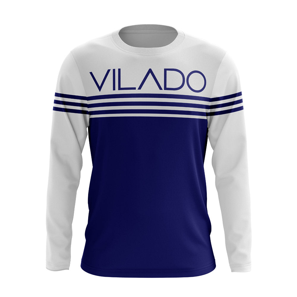 Blue Striped Vilado Full-sleeve T shirt For Men