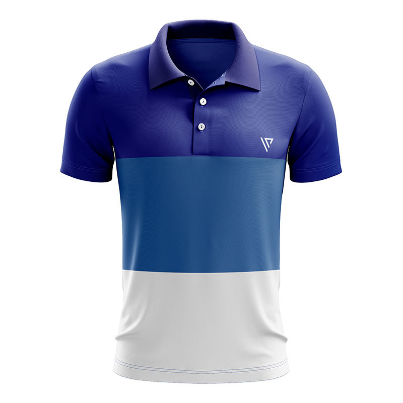 Three Color Blue Polo T shirt For Men
