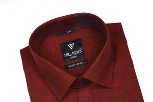 Men's Premium Cotton Formal Shirt Stunning Pattern By Vilado Paris