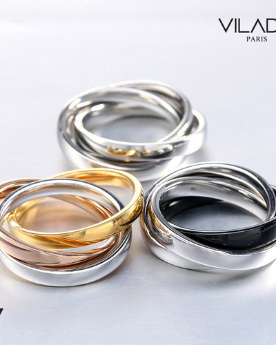 Stylish Multicolored Ring Set