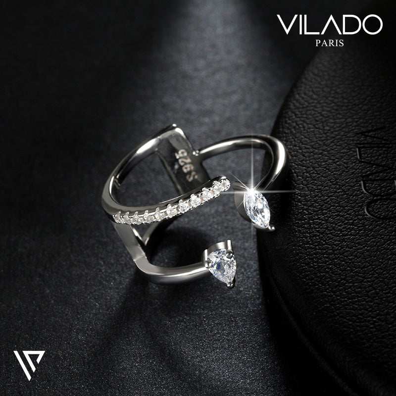 Arabic Style Shiny Water Drop Design Ring