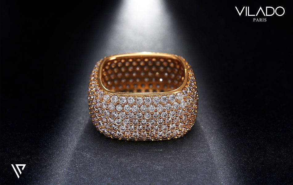 Square Fashion Vintage Wedding Ring