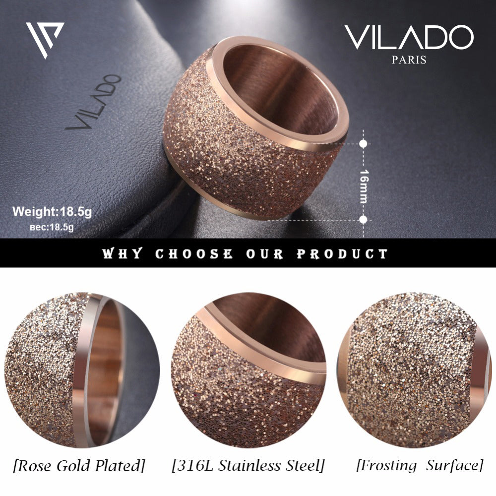 Silver and Gold Engraving Ring VILADO PARIS Premium Collection